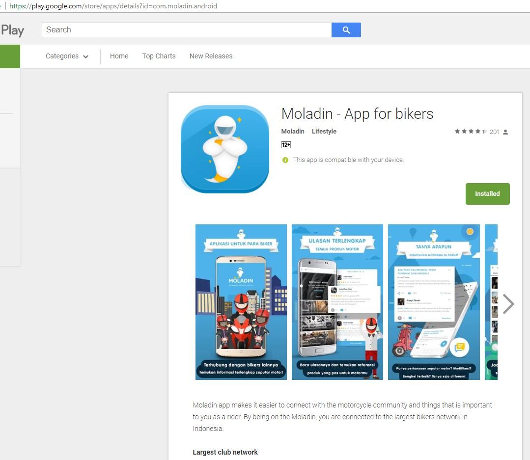 Review Aplikasi Moladin Cocok Banget Buat Anak Motor
